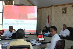 Kunjungan Dinas Pendidikan Gorontalo Utara