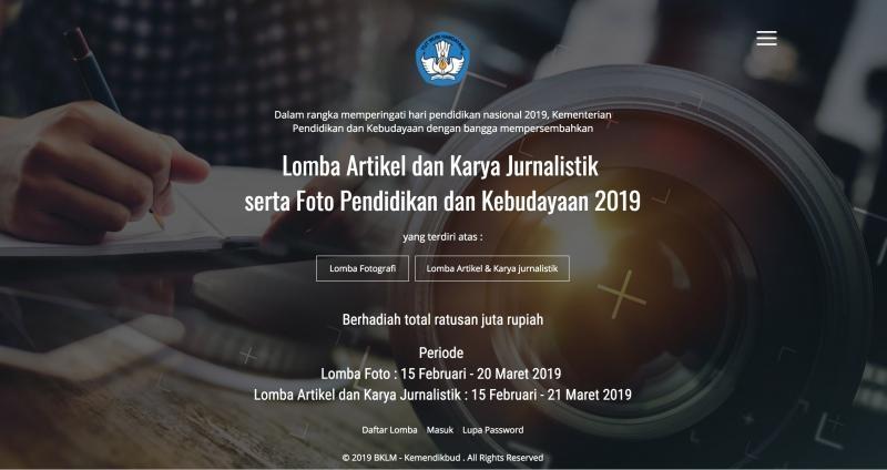 LOMBA ARTIKEL DAN KARYA JURNALISTIK SERTA FOTO HARDIKNAS 2019