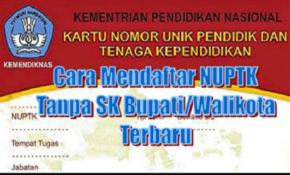 INILAH SYARAT TERBARU PENGAJUAN NUPTK TANPA SK BUPATI 2018/2019